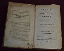 Antiquarian Leather Book: Memoirs of Eminently Pious Women Ornaments to Sex 1803