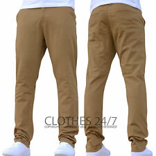 NEW MENS ENZO SLIM FIT STRETCH CHINOS JEANS PANTS TROUSERS ALL WAIST & SIZES S1