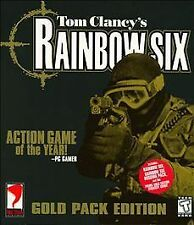 TOM CLANCY'S RAINBOW SIX *GOLD PACK EDITION* PC CD-ROM NEW/SEALED Red Storm 1999