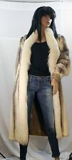 BLACK CROSS MINK FUR COAT WHITE FOX COLLAR & FRONT SZ S-M EXCELLENT & CLEAN