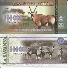 LA SAVANNA BILLETE 100000 FRANCS 2016 SPECIMEN