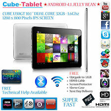 "CUBE U30GT 10.1"" DUAL CORE ROCKCHIP 1.6Ghz 16GB 1280 x 800 IPS ANDROID TABLET PC"