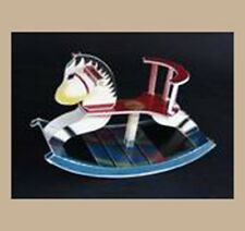 DIY Small 3D Paper Craft Art Rocking Horse Post card no die cut