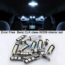 15pc White LED Interior Light Kit For 2003-2009 Mercedes Benz CLK class W209 M