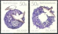 Iceland 2010 Christmas/Greetings/Birds/Wreath 2v set s/a (n42324)