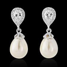 Pearl drop mariée boucles d'oreilles mariage style vintage