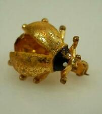 X Cute W Germany Vintage 50's Rhinestone Lady Bug Pin 11D5