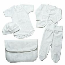 Bahar Bebe Newborn Baby Boy Layette Soft Turkish Cotton Gift Set in Keepsake
