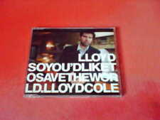LLYOD COLE So You'd Like To Save The World 3 Track CD Single!