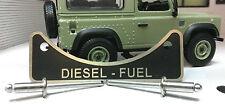 LandRover Defender TD5 TDCi TDi Diesel Fuel Filler Warning Badge Stainless Rivet