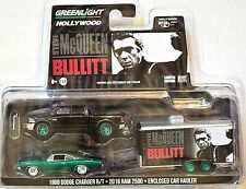 GREENLIGHT HITCH & TOW 1968 DODGE CHARGER R/T . 2016 RAM 2500 GREEN MACHINE