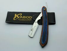 BARBER SALON STRAIGHT CUT THROAT SHAVING RAZOR SHAVETTE  REAL WOOD HANDLE
