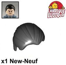 Lego - 1x Minifig cheveux coiffure hair lisse noir/black 92081 NEUF
