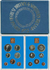 BRITISH COINS: 1972 Great Britain & NI Proof Coin Set with Silver Wedding Crown