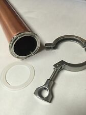 "Beer Keg Still Adapter Kit 2"" Tri Clamp, Ferrule, & Gasket for Distilling Column"