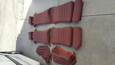 BMW E24 635CSI SPORT SEAT KIT CARDINAL RED 100% LEATHER UPHOLSTERY KIT BEAUTIFUL