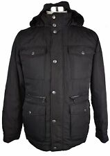 #Z330 NEW HAWKE & CO Black Basic Hooded Jacket S $380