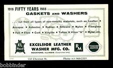 VINTAGE EXCELSIOR LEATHER WASHER CO INK BLOTTER 1966 NEVER USED