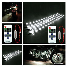"""Wireless Remote + 4pcs Motorcycle 12"""" White 3528SMD Light Strip Flexible For KTM"""