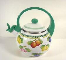Villeroy & Boch French Garden Whistling Tea Water Kettle EUC