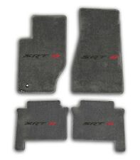 2005-2008 Jeep Grand Cherokee SRT 8 - Grey Carpet 4pc Floor Mat Set with Logo