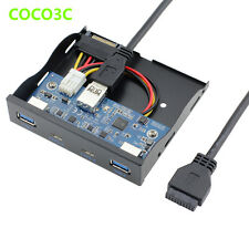 2 Port USB 3.1 Type C USB 3.0 A HUB to 20Pin Header Front Panel Floppy Disk Bay