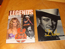 2 BOOK LOT John Wayne The Duke Life in Pictures Legends of Country Elvis Presley