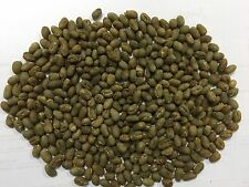 Indonesia Peaberry green coffee beans.