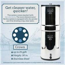 Crown Berkey Water Filter Purifiy with 2 Black Filter's FREE Shipping Purified