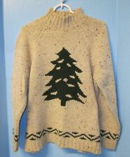 Eddie Bauer Ugly Christmas Sweater Christmas Tree  Design Size S/P 100% Wool
