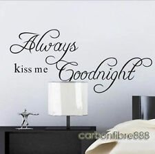 Always Kiss Me Goodnight Wall Stickers Art Decal Paper Mural Vinyl Decor