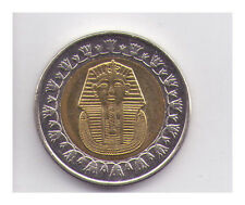 2008 - 2010 £1 Egypt Bi-Metallic Coin - Facing Bust of the Sphinx