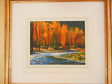 Canadian Artist Renato Muccillo Afternoon Sun Checkamus River Signed Painting