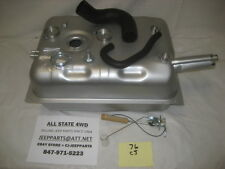 JEEP 1976 CJ5 CJ7 REAR MOUNT 15 GAL GAS TANK KIT SENDER, HOSES, CLAMPS, ADAPTER