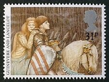Queen Guinevere and Sir Lancelot on 1985 Stamp - Unmounted Mint