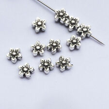15pcs Plum flower  tibetan silver spacer Beads Findings jewelry making 8x8mm.