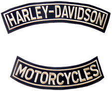 2 SET LARGE PATCHES HARLEY DAVIDSON - HARLEY DAVIDSON - MOTORCYCLES - Chenille