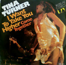 "7"" 1976 ! TINA TURNER : I Want To Take You Higher + CV BEATLES Come Together"