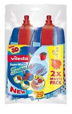 VILEDA SuperMocio 2 X twin pack Replacement Mop Head Refill  (2X 137469 blue)