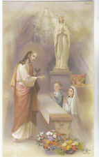 "*HOLY CARD-""Jesus Giving Communion to Little Boy & Girl""  ...CLASSIC   (#63)"