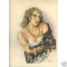 Print - Edouard Chimot: Gipsy woman - Ready to frame