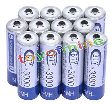 12 AA 3000mAh 1.2 V Ni-MH rechargeable battery BTY cell