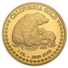 1 oz Gold Round - Great Seal of California - SKU #45520