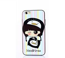 Cute Gril Stripe Pillow iPhone 6 / 6s  Hee & Tree TPU case