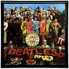 "The Beatles Sgt. Pepper Framed 12"" LP Album Cover Artwork includes Vinyl Record"