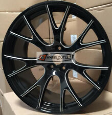 22 Rims Black Milled Wheels Stagger Tires Hellcat Fit 300C Challenger Charger