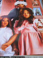 Vtg Annette Himstedt 1993 Childhood Lona/Kima/Tara Doll Ad ~Advertisement ONLY