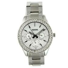 FOSSIL WOMEN'S ES2860 STAINLESS STEEL ANALOG WITH SILVER DIAL WATCH-1