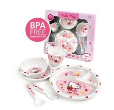 Lock&Lock Baby Lunch Set Child Hello Kitty Dish Cup Spoon Fork BPA free Pink Kid
