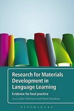 Research for Materials Development in Language Learning: Evidence for Best...